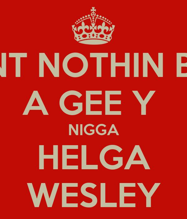 AINT NOTHIN BUT A GEE Y  NIGGA HELGA WESLEY