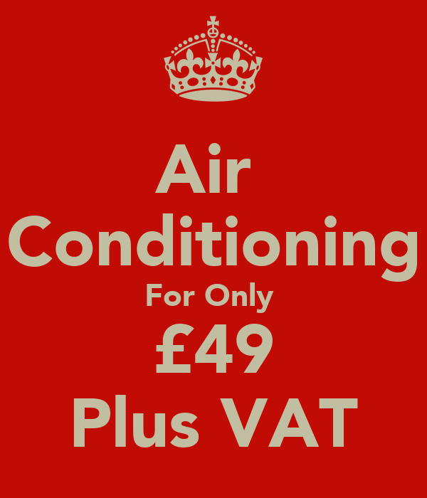 Air  Conditioning For Only  £49 Plus VAT