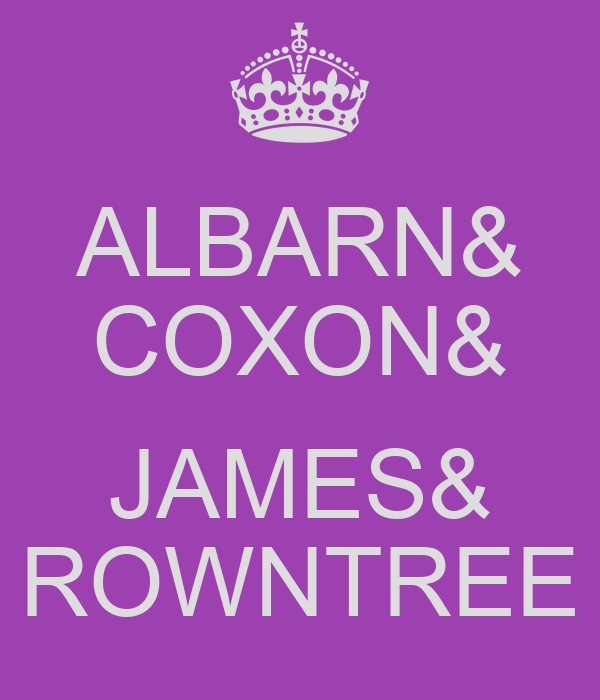 ALBARN& COXON&  JAMES& ROWNTREE