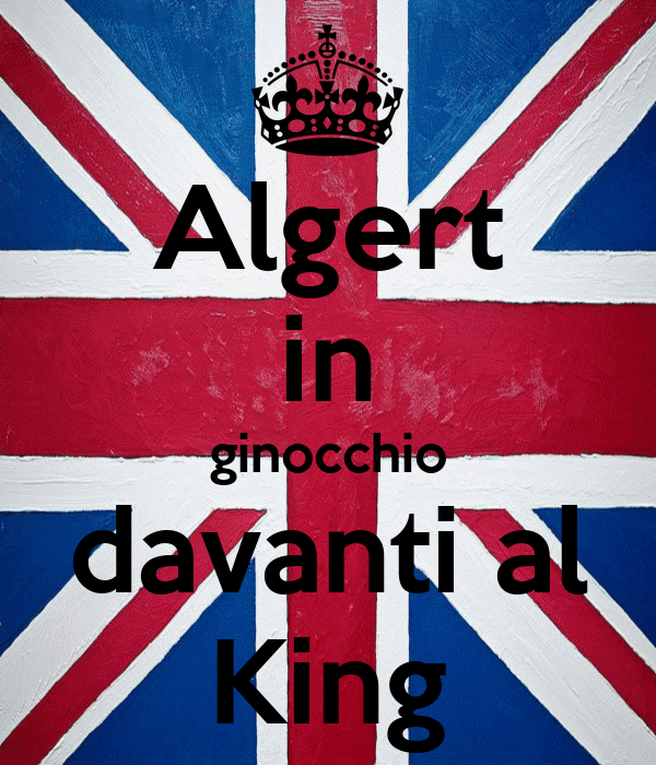 Algert in ginocchio davanti al King