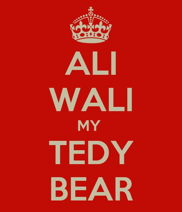 ALI WALI MY  TEDY BEAR