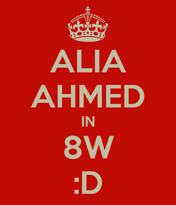 ALIA AHMED IN 8W :D