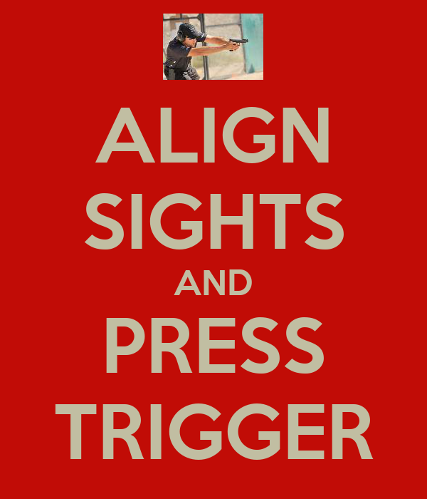 ALIGN SIGHTS AND PRESS TRIGGER
