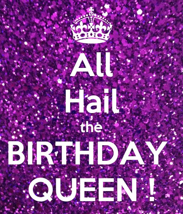 All Hail The Birthday Queen Poster John Keep Calm O