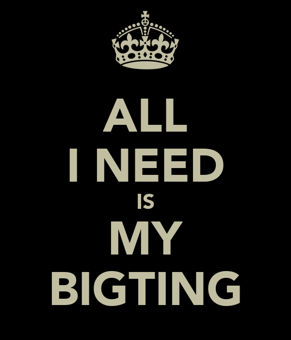 ALL I NEED IS MY BIGTING