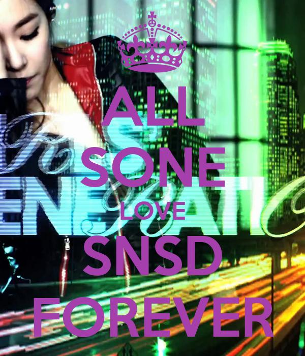 ALL SONE LOVE SNSD FOREVER