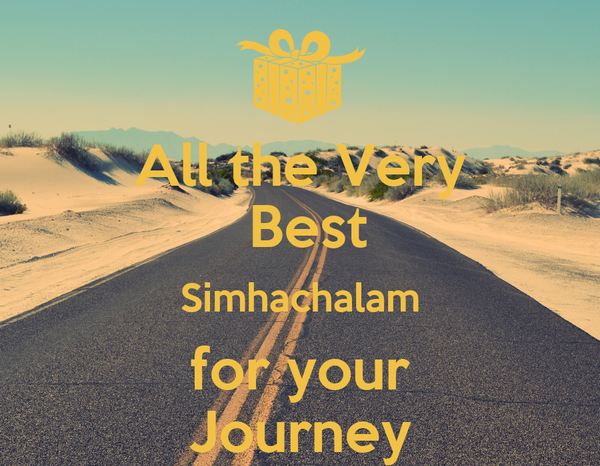 All the very best simhachalam for your journey poster for All the very best images