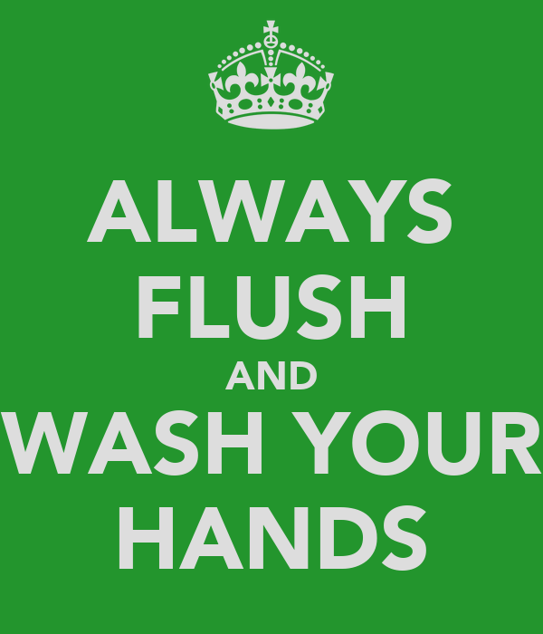 ALWAYS FLUSH AND WASH YOUR HANDS