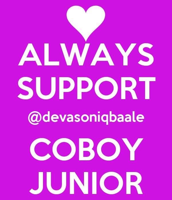 ALWAYS SUPPORT @devasoniqbaale COBOY JUNIOR
