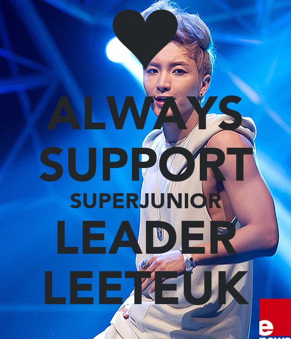 ALWAYS SUPPORT SUPERJUNIOR LEADER LEETEUK