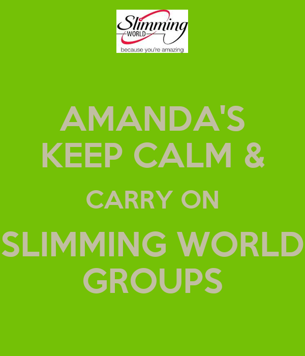 AMANDA'S KEEP CALM & CARRY ON SLIMMING WORLD GROUPS Poster ...