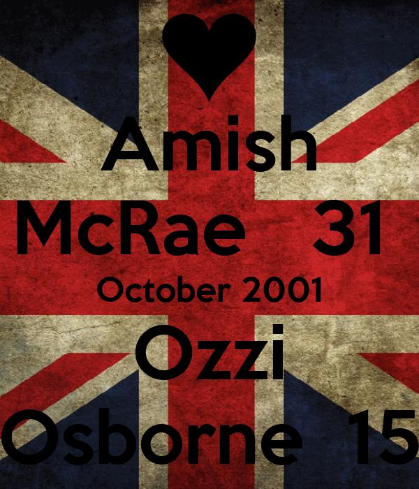 Amish McRae   31  October 2001 Ozzi Osborne  15