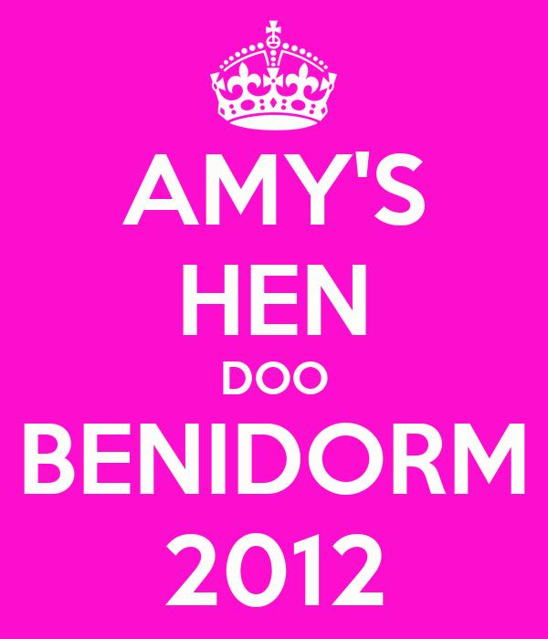AMY'S HEN DOO BENIDORM 2012