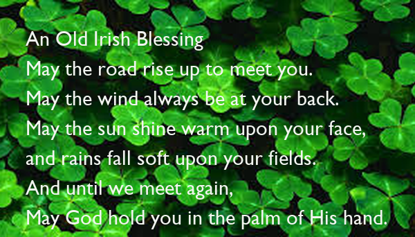 The irish Blessing Tea Set May The Road Rise To Meet you Blessing