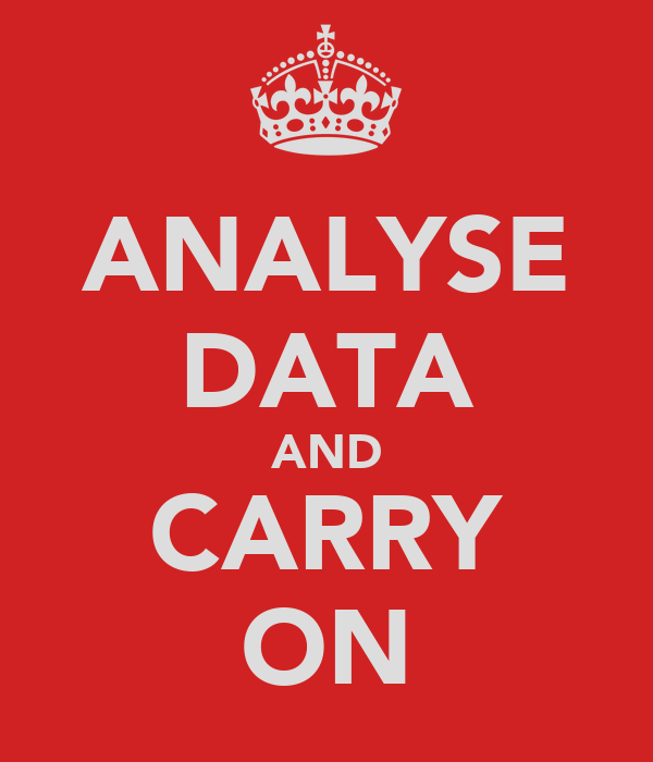 ANALYSE DATA AND CARRY ON