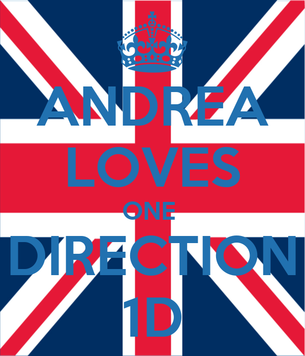 ANDREA LOVES ONE  DIRECTION 1D
