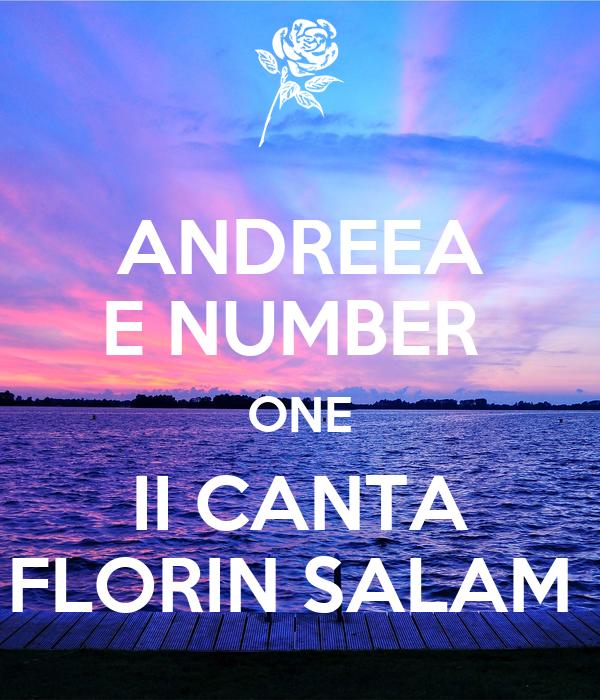 ANDREEA E NUMBER  ONE II CANTA FLORIN SALAM
