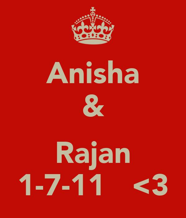 Anisha &  Rajan 1-7-11   <3
