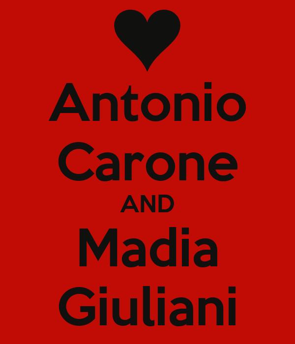 Antonio Carone AND Madia Giuliani