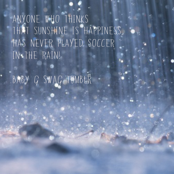 Anyone who thinks that sunshine is happiness, has never ...