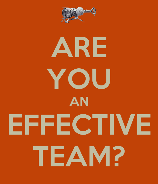 ARE YOU AN EFFECTIVE TEAM?