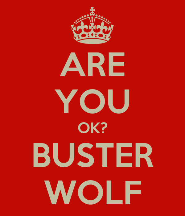 ARE YOU OK? BUSTER WOLF