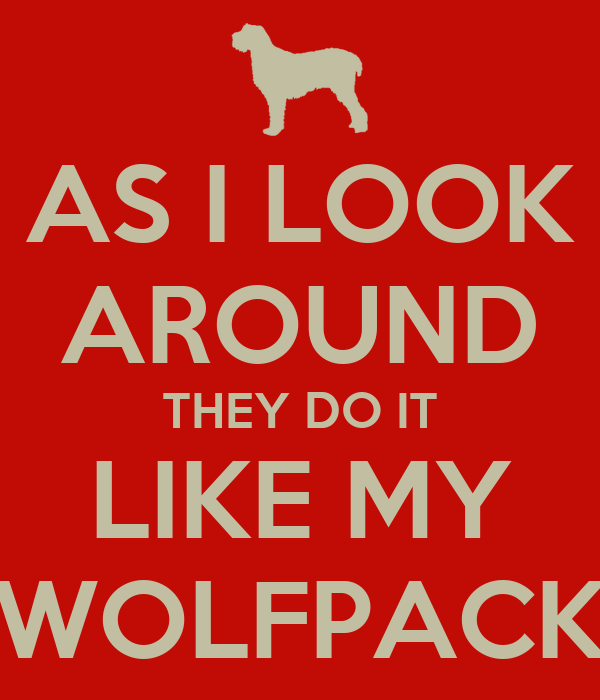 AS I LOOK AROUND THEY DO IT LIKE MY WOLFPACK