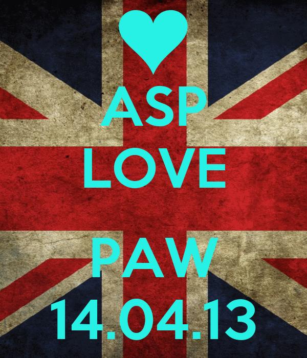ASP LOVE  PAW 14.04.13
