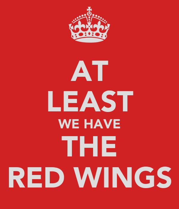 AT LEAST WE HAVE THE RED WINGS