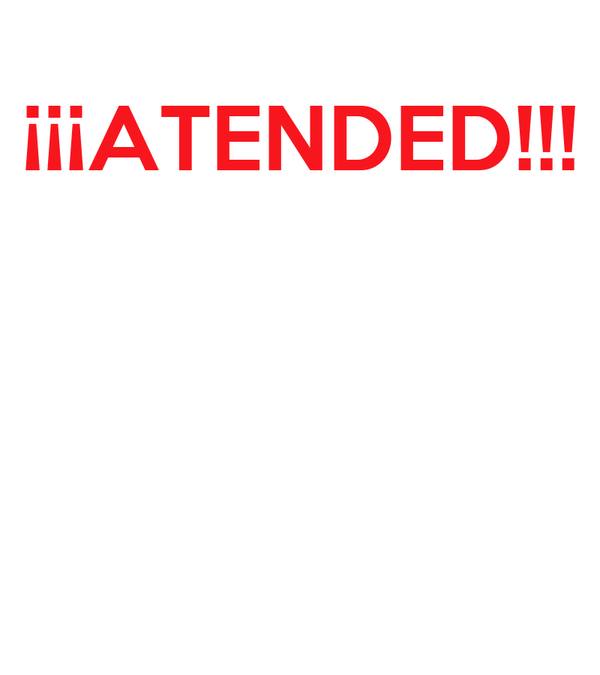 ¡¡¡ATENDED!!!