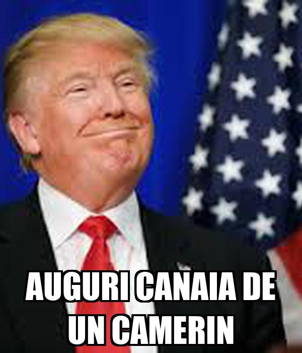 AUGURI CANAIA DE UN CAMERIN