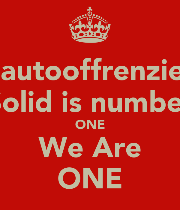@autooffrenzied Solid is number ONE We Are ONE