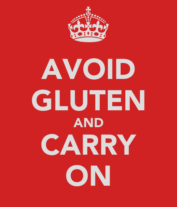 AVOID GLUTEN AND CARRY ON