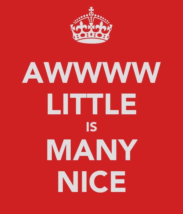AWWWW LITTLE IS MANY NICE