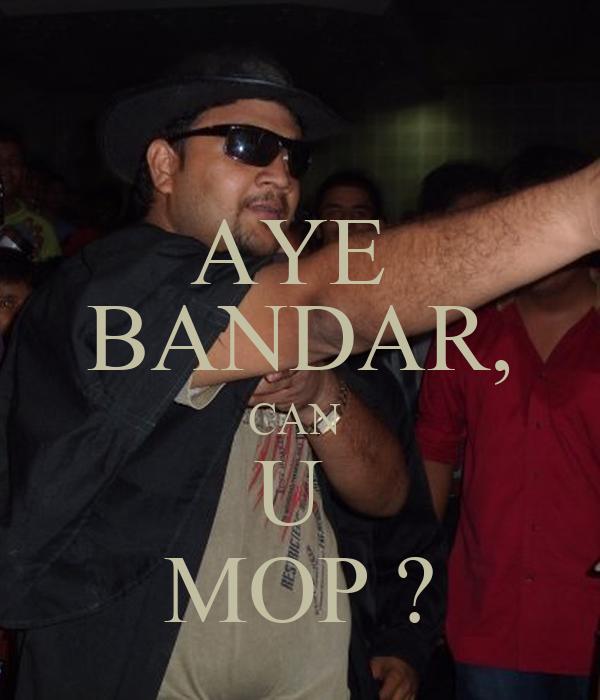AYE  BANDAR, CAN  U  MOP ?