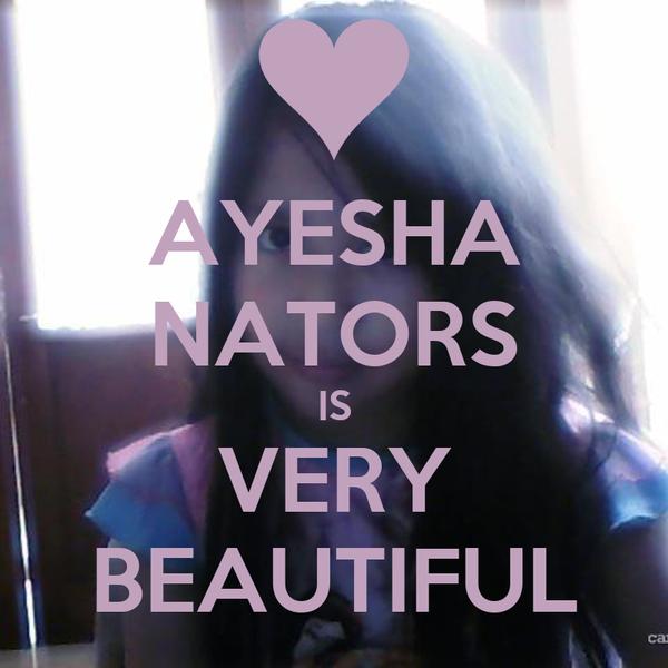 AYESHA NATORS IS VERY BEAUTIFUL