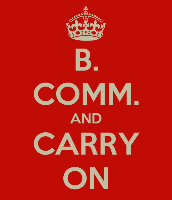 B. COMM. AND CARRY ON