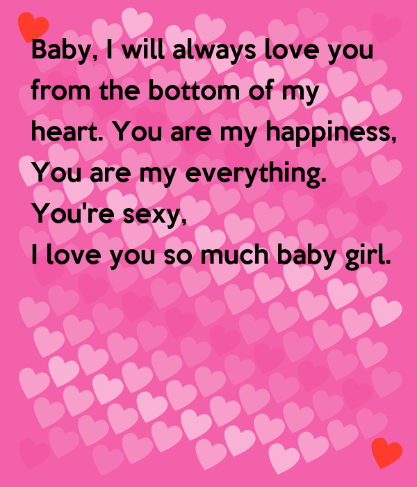 you re the girl i love