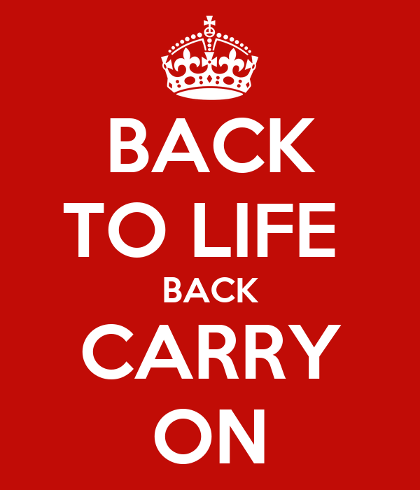 BACK TO LIFE  BACK CARRY ON