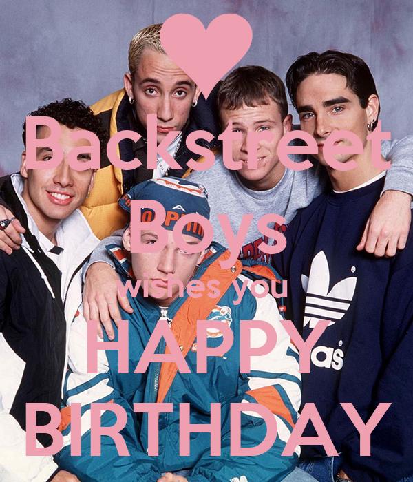 Backstreet Boys Wishes You Happy Birthday Poster Dio