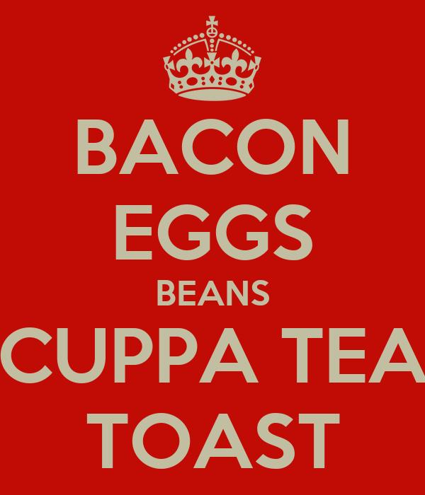 BACON EGGS BEANS CUPPA TEA TOAST
