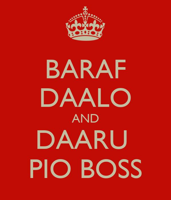 BARAF DAALO AND DAARU  PIO BOSS