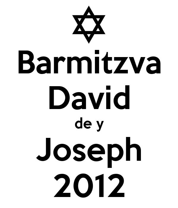 Barmitzva David de y Joseph 2012