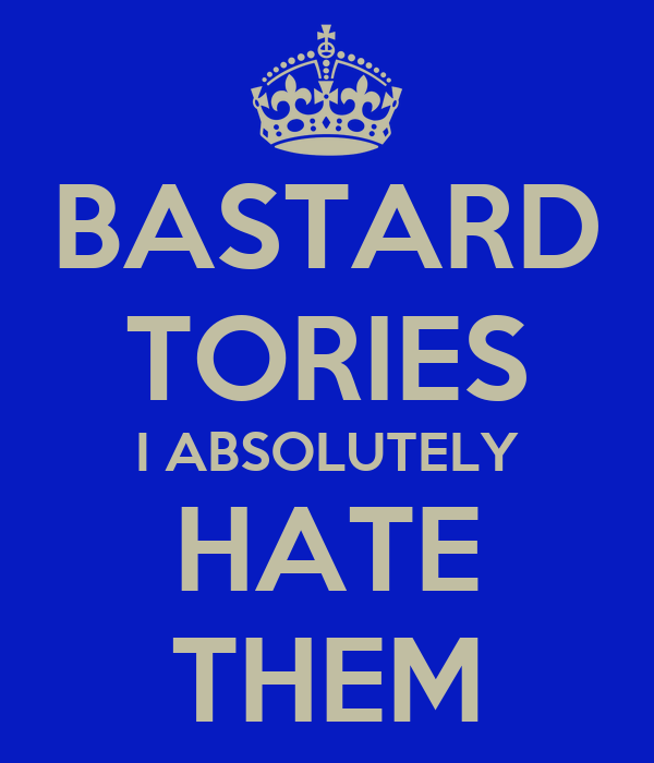 BASTARD TORIES I ABSOLUTELY HATE THEM