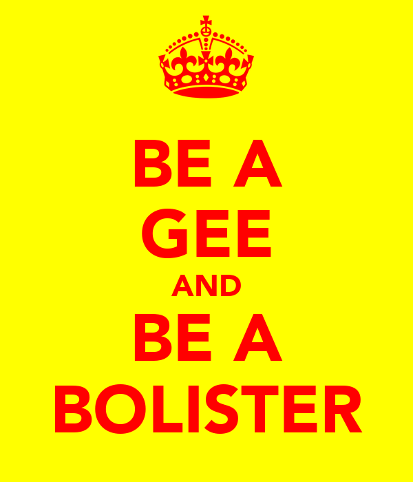 BE A GEE AND BE A BOLISTER