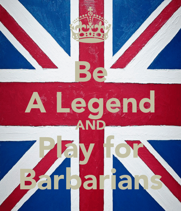 Be A Legend AND Play for Barbarians