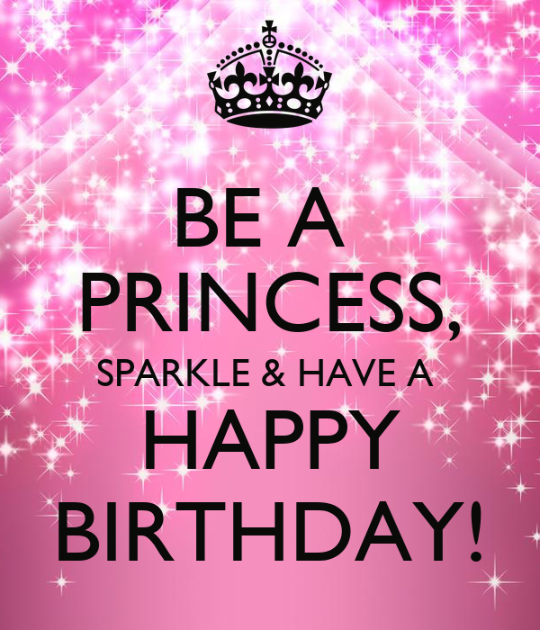 BE A PRINCESS, SPARKLE & HAVE A HAPPY BIRTHDAY! Poster