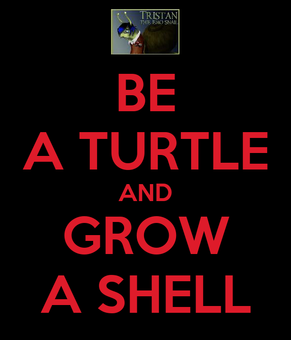 BE A TURTLE AND GROW A SHELL