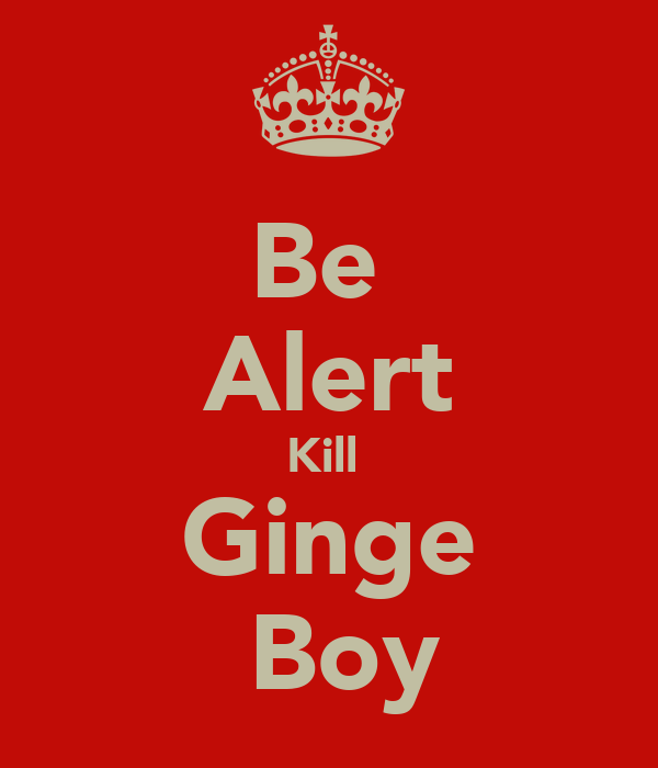 Be  Alert Kill  Ginge  Boy
