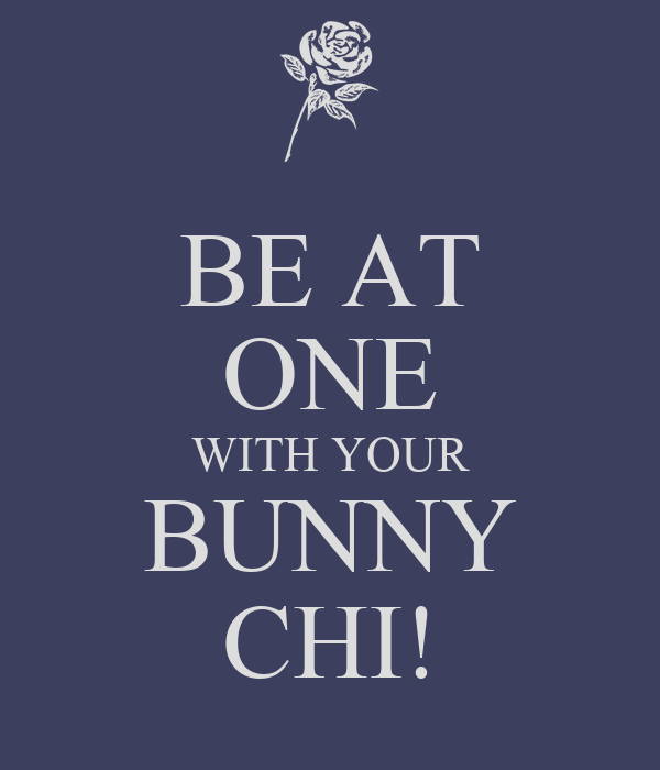 BE AT ONE WITH YOUR BUNNY CHI!
